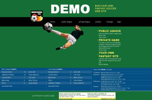 Fantasy Soccer Script Demo